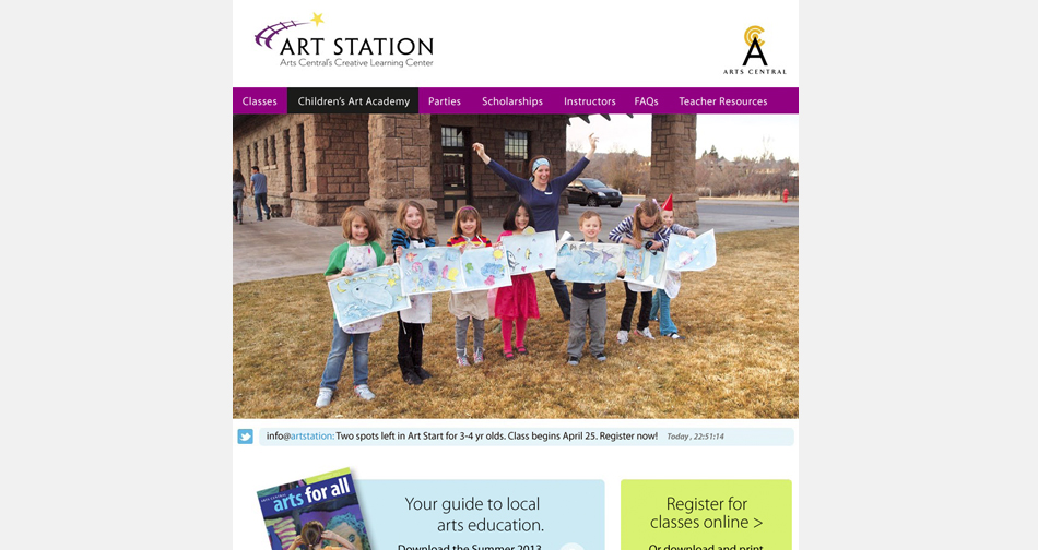 Arts Central Web Redesign